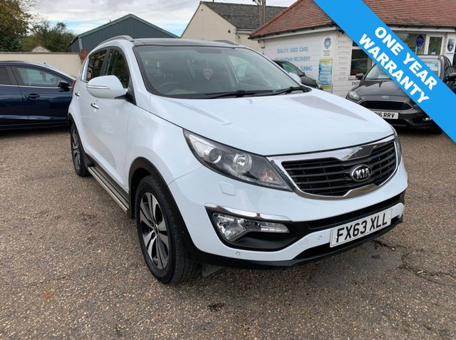 USED 2013 63 KIA SPORTAGE 2.0 KX-4 CRDI  5d 181 BHP ONE YEAR WARRANTY / SAT NAV / AUTOMATIC / VOICE COMMS / CRUISE CONTROL / PANORAMIC ROOF
