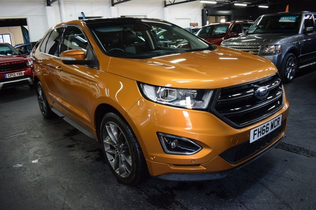 USED 2016 66 FORD EDGE 2.0 SPORT TDCI 5d 207 BHP 4X4 AUTO  STUNNING IN CAYON RIDGE METALLIC - 4X4 - AUTO - LEATHER - NAV - PANROOF - HEATED COOLED SEATS - HEATED STEERING WHEEL - PRIVACY