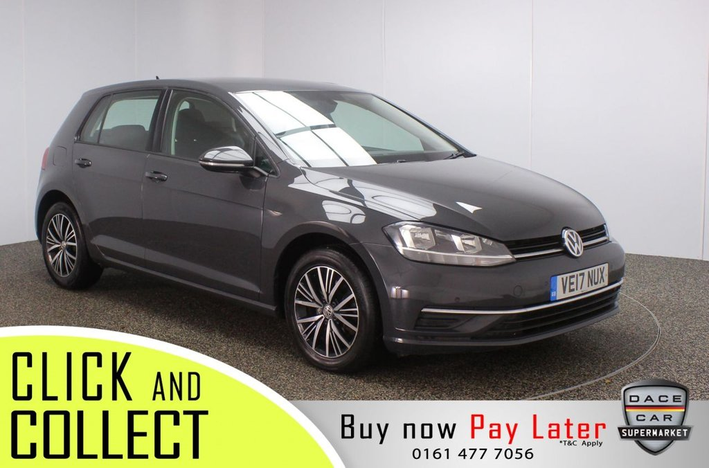 USED 2017 17 VOLKSWAGEN GOLF 1.6 SE NAVIGATION TDI BLUEMOTION TECHNOLOGY 5DR 1 OWNER 114 BHP FULL SERVICE HISTORY + SATELLITE NAVIGATION + PARKING SENSOR + BLUETOOTH + CRUISE CONTROL + MULTI FUNCTION WHEEL + AIR CONDITIONING + DAB RADIO + USB PORT + ELECTRIC WINDOWS + ELECTRIC/HEATED/FOLDING DOOR MIRRORS + 16 INCH ALLOY WHEELS