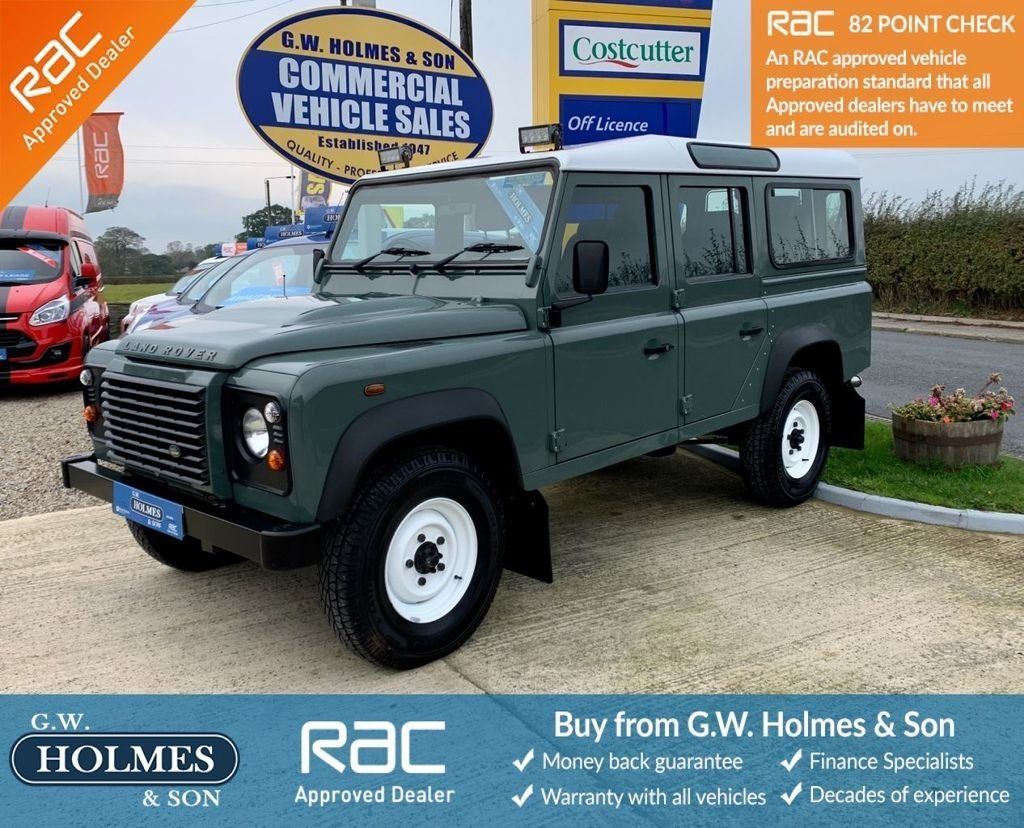USED 2013 63 LAND ROVER DEFENDER 110 2.2 TDCI STATION WAGON WITH A/C 7 SEATS **DIRECT MOD**ONLY 42,000 MILES**
