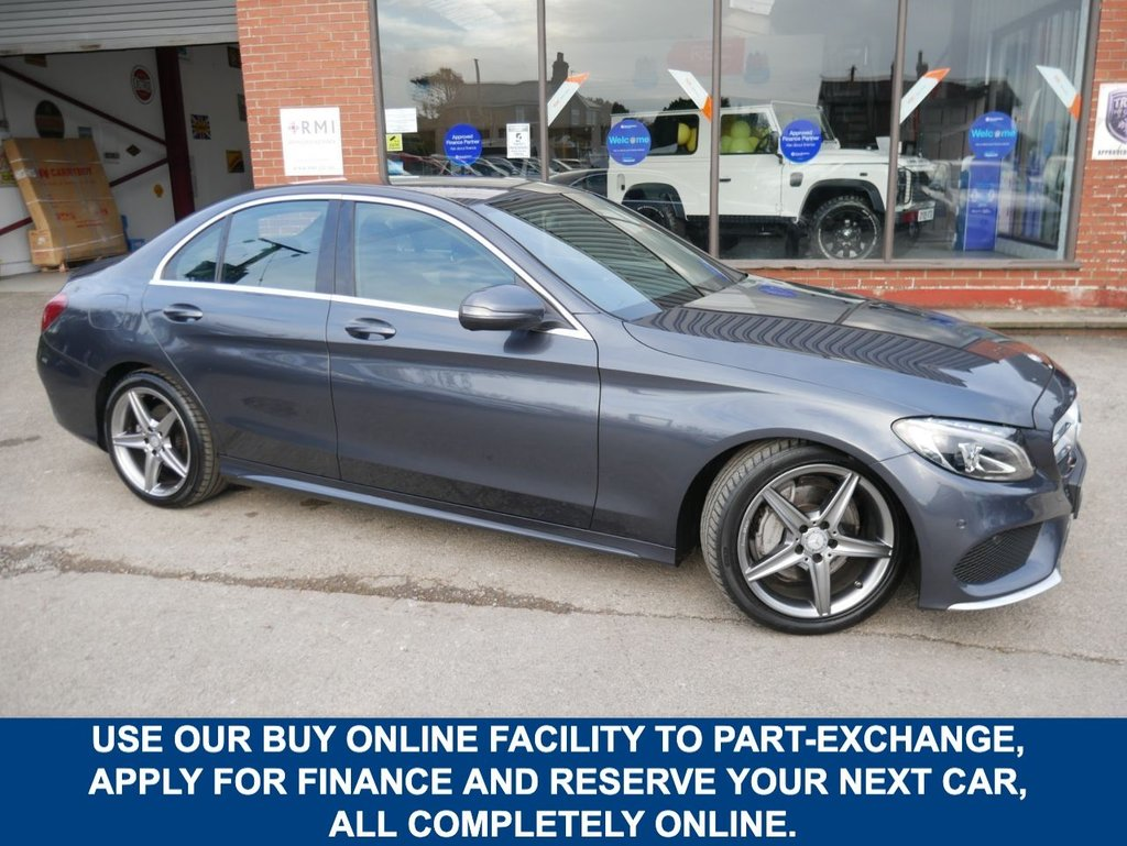 USED 2016 16 MERCEDES-BENZ C-CLASS 2.1 C220 D AMG LINE 4d 170 BHP CLICK & COLLECT ONLINE AT C H RENDER.
