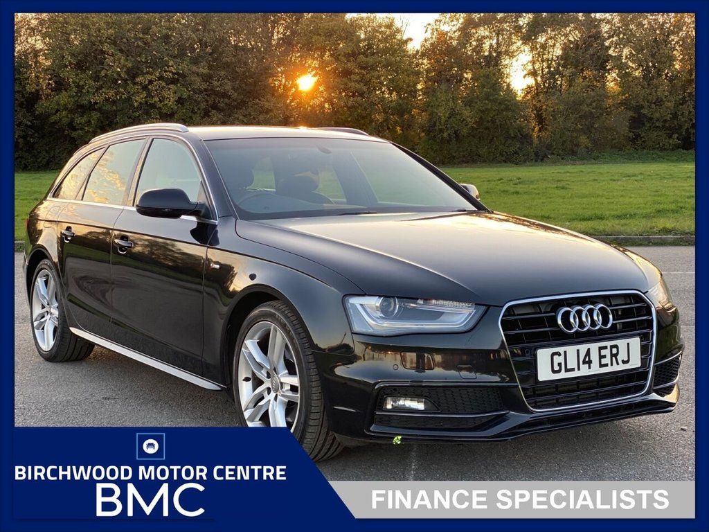 USED 2014 14 AUDI A4 2.0 AVANT TDI S LINE START/STOP 5d 148 BHP, AUTOMATIC ESTATE, LOW MILEAGE At Just 50,223m FSH, SAT NAVIGATION, CRUISE , HALF LEATHER TRIM, IMMACULATE THROUGHOUT