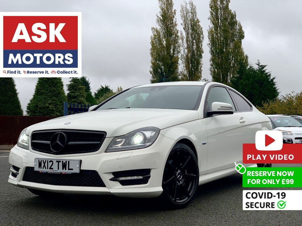 USED 2012 12 MERCEDES-BENZ C-CLASS 2.1 C250 CDI BLUEEFFICIENCY AMG SPORT 2d 204 BHP SATNAV SERVICE HISTORY SPARE KEY
