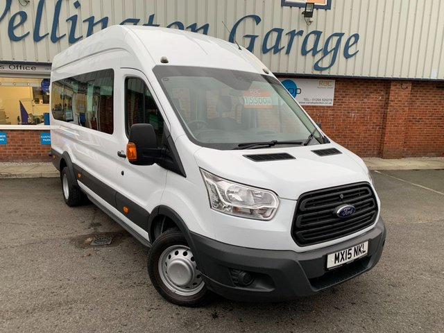 USED 2015 15 FORD TRANSIT 2.2 460 H/R BUS 17 STR 124 BHP