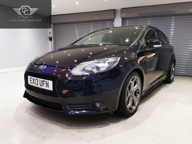USED 2013 13 FORD FOCUS 2.0 ST-3 5d 247 BHP SUNROOF + LANE CHANGE ASSIST + HEATED LEATHER RECARO SEATS
