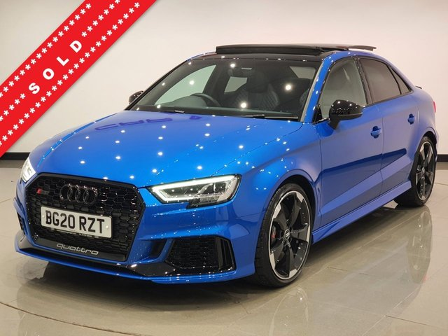 USED 2020 20 AUDI RS3 SALOON RS3 2.5 TFSI (400 PS) AUDI SPORT EDITION S TRONIC QUATTRO (S/S) 4DR HIGH SPEC + LOW MILES + PANROOF + VIRTUAL DASH + RS EXHAUST +