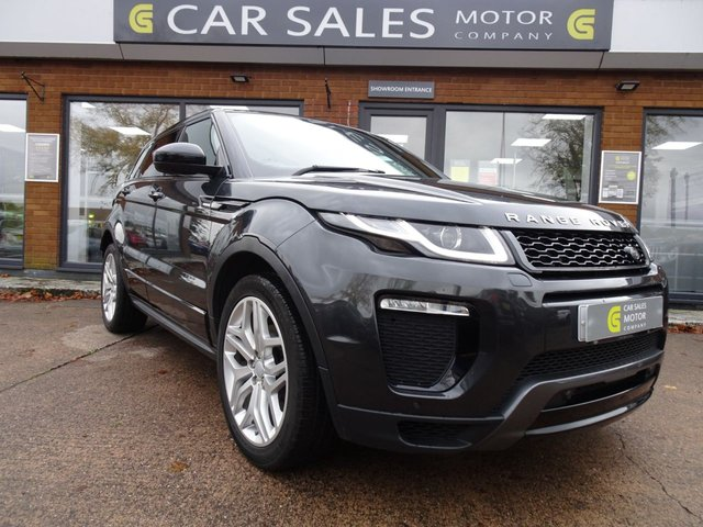 "USED 2016 66 LAND ROVER RANGE ROVER EVOQUE 2.0 TD4 HSE DYNAMIC 5d 177 BHP ONE OWNER, LOW MILEAGE 32K, JUST HAD A MAJOR SERVICE, SAT NAV, LEATHER, REVERSE CAMERA AND PARKING SENSORS, MERIDIAN SOUND SYSTEM, LANE ASSIST, 20"" ALLOY WHEELS, BLACK PACK STYLING , MOT TILL OCTOBER 2021 NO ADVISORIES, 2 KEYS, HPI CLEAR"