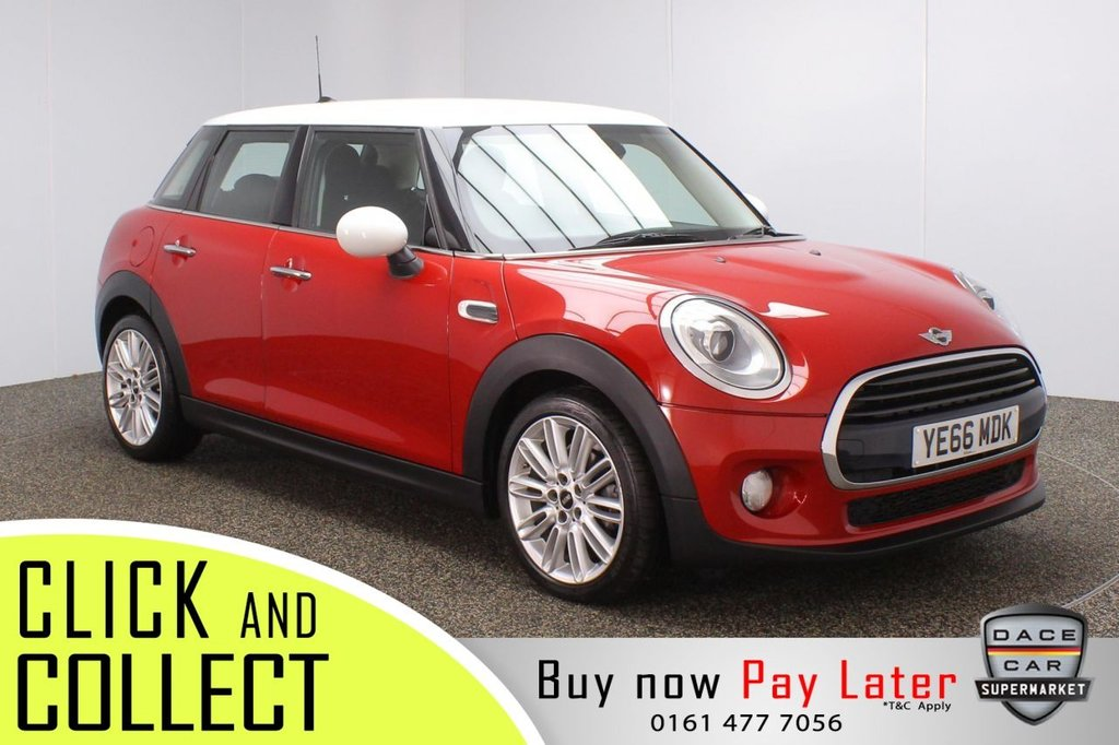 USED 2016 66 MINI HATCH COOPER 1.5 COOPER D CHILI PACK 5DR 114 BHP SERVICE HISTORY + FREE 12 MONTHS ROAD TAX + HALF LEATHER SEATS + SATELLITE NAVIGATION + BLUETOOTH + CRUISE CONTROL + CLIMATE CONTROL + MULTI FUNCTION WHEEL + XENON HEADLIGHTS + DAB RADIO + AUX/USB PORT + ELECTRIC WINDOWS + ELECTRIC MIRRORS + 17 INCH ALLOY WHEELS