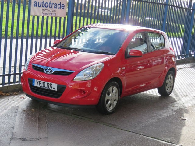 USED 2010 10 HYUNDAI I20 1.2 COMFORT 5d 77 BHP Radio CD, USB and Aux In, Electric Adjustable and Folding Mirrors, Electric Front and Rear Windows, Air Conditioning
