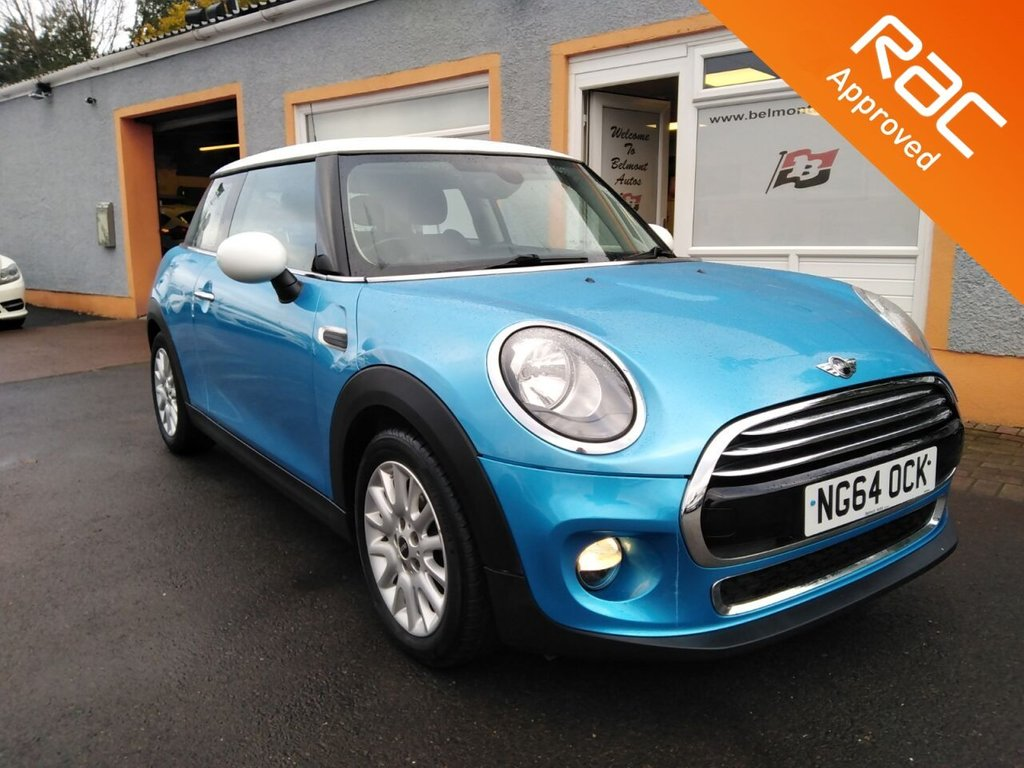 "USED 2015 64 MINI HATCH COOPER 1.5 COOPER D 3d 114 BHP RAC Inspected Vehicle, 1/2 Leather Upholstery, 16"" Alloys, Parking Sensors, Bluetooth, USB/ AUX"