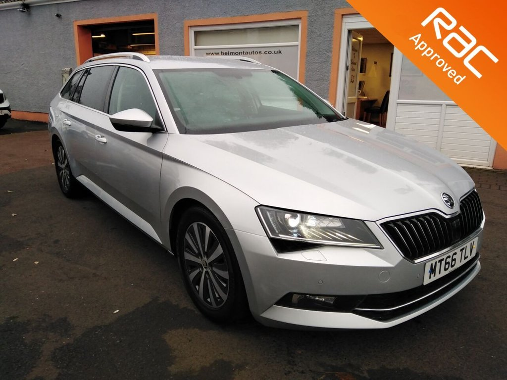 USED 2016 66 SKODA SUPERB 1.6 SE L EXECUTIVE TDI GREENLINE 5d 118 BHP Touchscreen Colour Sat Nav, Bluetooth, Full Leather, Heated Seats, Parking sensors and much more