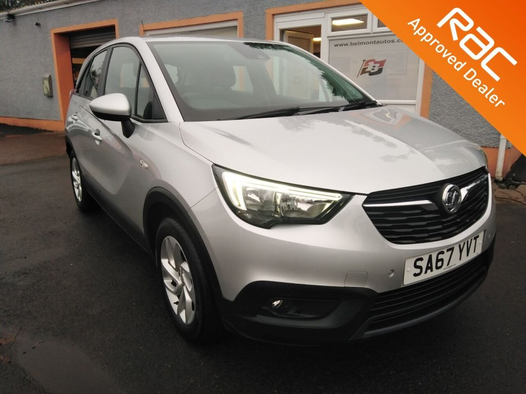 """USED 2017 67 VAUXHALL CROSSLAND X 1.2 SE NAV 5d 80 BHP RAC Inspected Vehicle, Front and Rear Parking Sensors, Sat nav with 8 """" Colour touchscreen, Cruise Control, Bluetooth"""