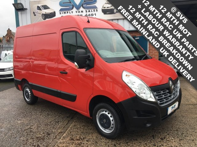 USED 2015 15 RENAULT MASTER 2.3DCI SM33 BUSINESS 6 SPEED 125BHP L1 H2 SWB MED ROOF FSH