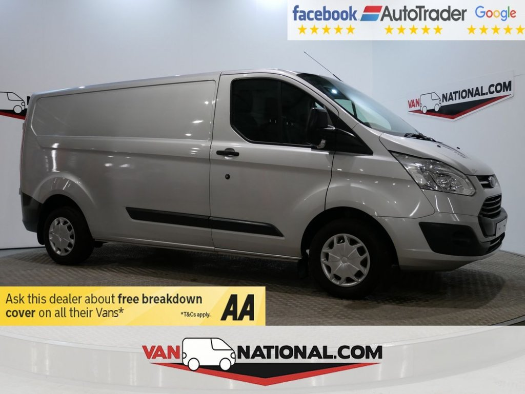 USED 2017 67 FORD TRANSIT CUSTOM 2.0 290 TREND LR P/V 105 BHP LWB L2 *EURO 6* * ONE OWNER * EURO 6 * LWB * ZERO DEPOSIT FINANCE AVAILABLE *