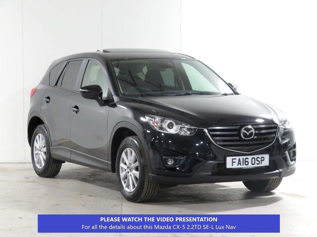 USED 2016 16 MAZDA CX-5 2.2 TD SE-L Lux Nav 2WD (s/s) 5dr FULL-SERV-HISTORY*JUST-SERVICD