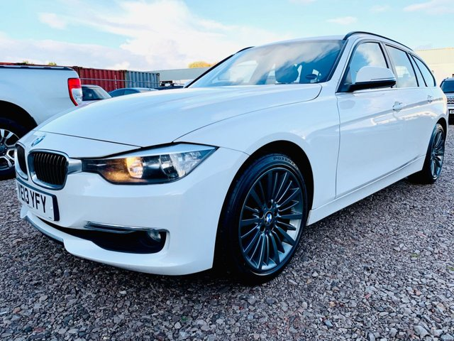"""USED 2013 13 BMW 3 SERIES 2.0 320D LUXURY TOURING 5d 181 BHP SATELLITE NAVIGATION - HEATED LEATHER SEATS - 12 MONTH MOT - SERVICE HISTORY: LAST FEB 2020 - 18"""" REFURBISHED ALLOY WHEELS - 3 MONTH WARRANTY"""