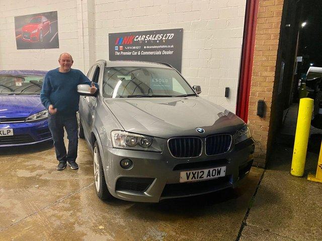 2012 12 BMW X3 2.0L XDRIVE20D M SPORT 5d AUTO 181 BHP SAT NAV FULL BMW SERVICE HISTORY SOLD TO MARTYN FROM SHEFFIELD