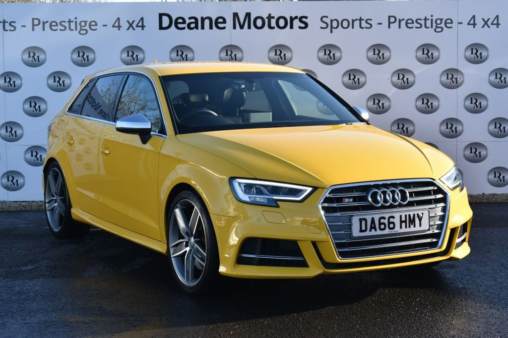 USED 2016 66 AUDI S3 2.0 S3 SPORTBACK QUATTRO 5d 306 BHP PRIVATE PLATE INCLUDED
