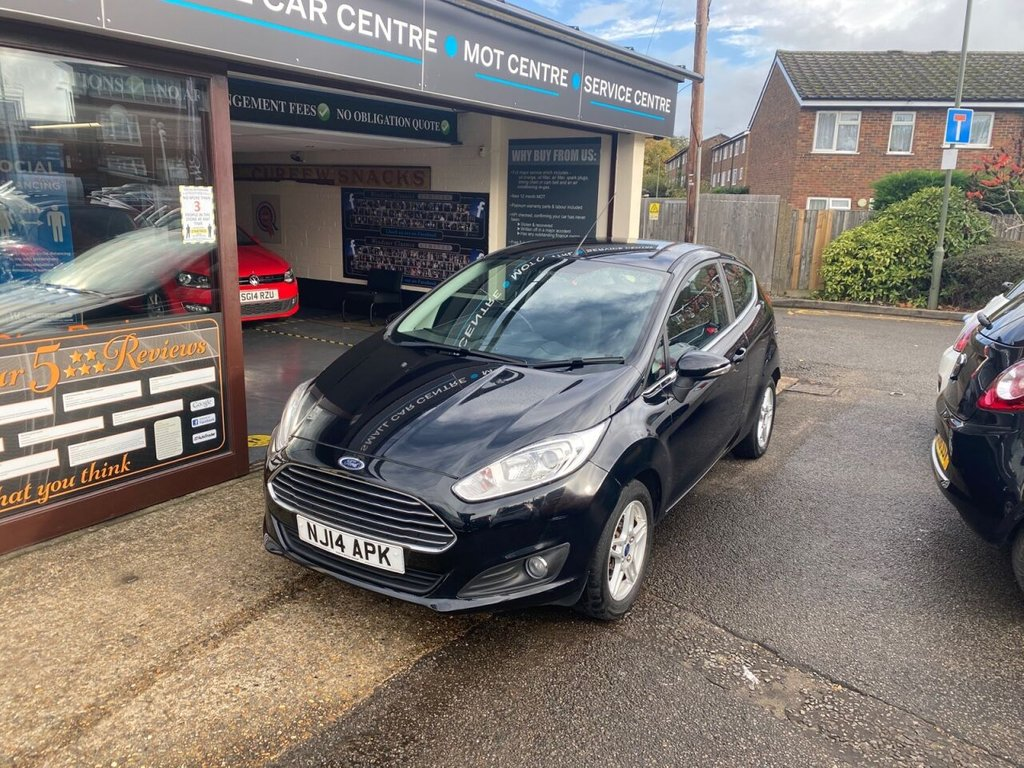 USED 2014 14 FORD FIESTA 1.0 ZETEC 3d 79 BHP USB - AUX - AIRCON - ALLOYS