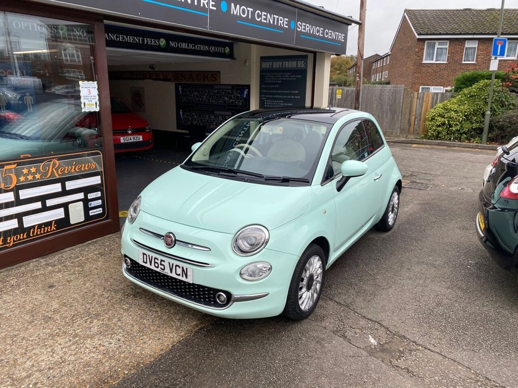 USED 2015 65 FIAT 500 1.2 LOUNGE 3d 69 BHP PANROOF - BLUETOOTH - USB - AUX - AIRCON