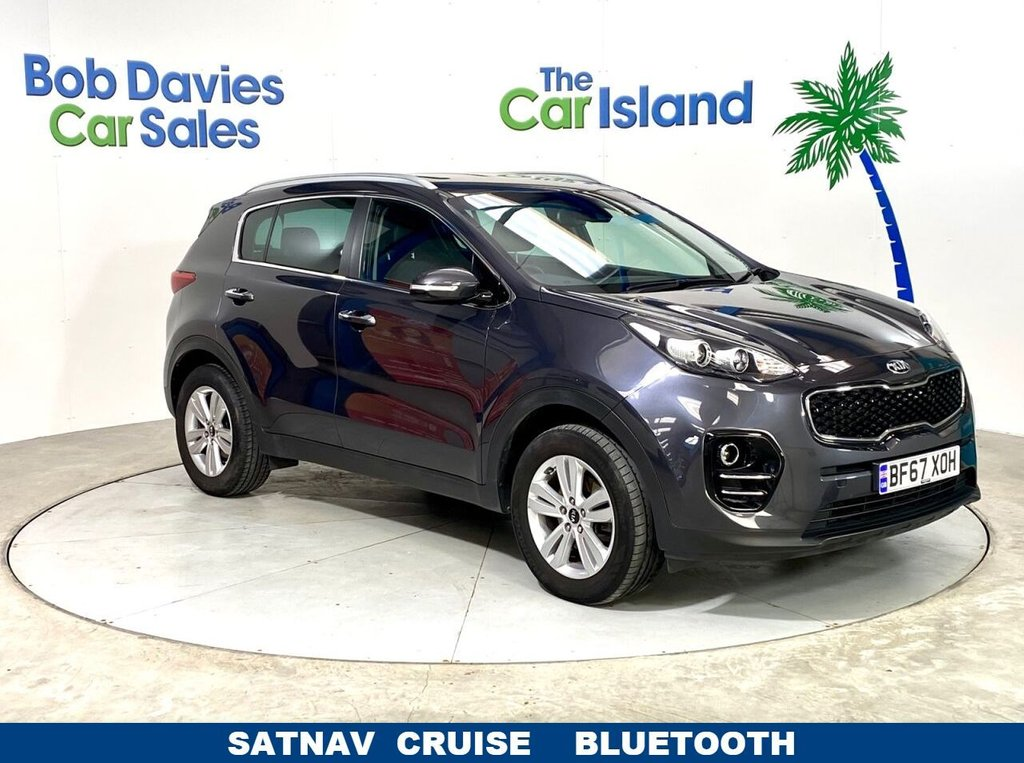 USED 2017 67 KIA SPORTAGE 1.6 2 ISG 5d 130 BHP SATNAV Parking Camera Apple Car Play 30000 miles