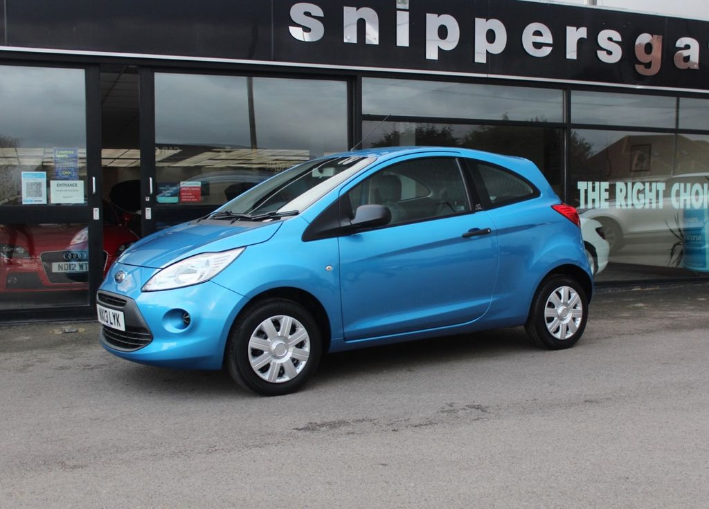 USED 2013 10 FORD KA 1.2 STUDIO 3d 69 BHP Dive Blue Metallic, Power Assisted Steering, Isofix, ABS, ESP With Hill Assist, Engine Immobiliser, Radio/CD + MP3, Connectivity Pack, Passenger and Driver Airbag, Passenger Airbag Deactivation Switch, Service History - Just Serviced.