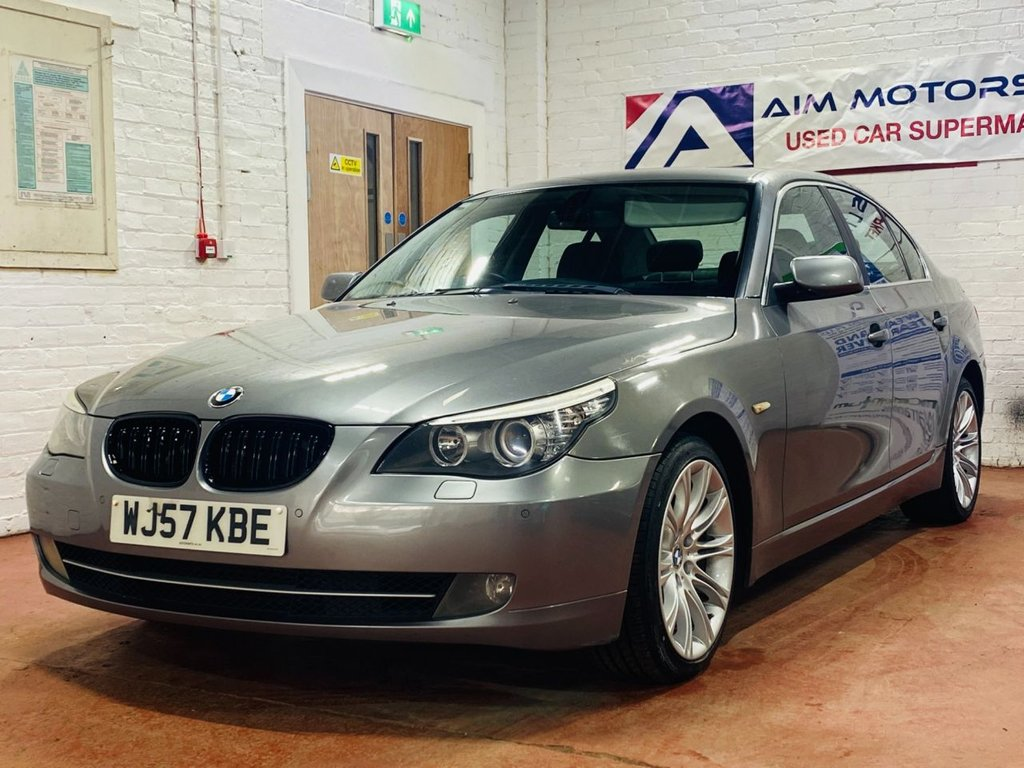USED 2007 57 BMW 5 SERIES 2.0 520D SE 4d 161 BHP 12 MONTHS COMPREHENSIVE WARRANTY & BREAKDOWN COVER & NEW SERVICE ,