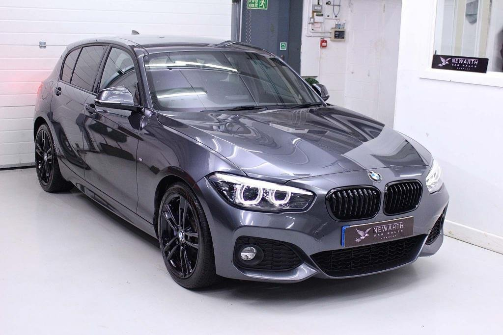 USED 2018 18 BMW 1 SERIES 2.0 120d M Sport Shadow Edition Sports Hatch Auto (s/s) 5dr FULL BLACK LEATHER SHADOW EDN