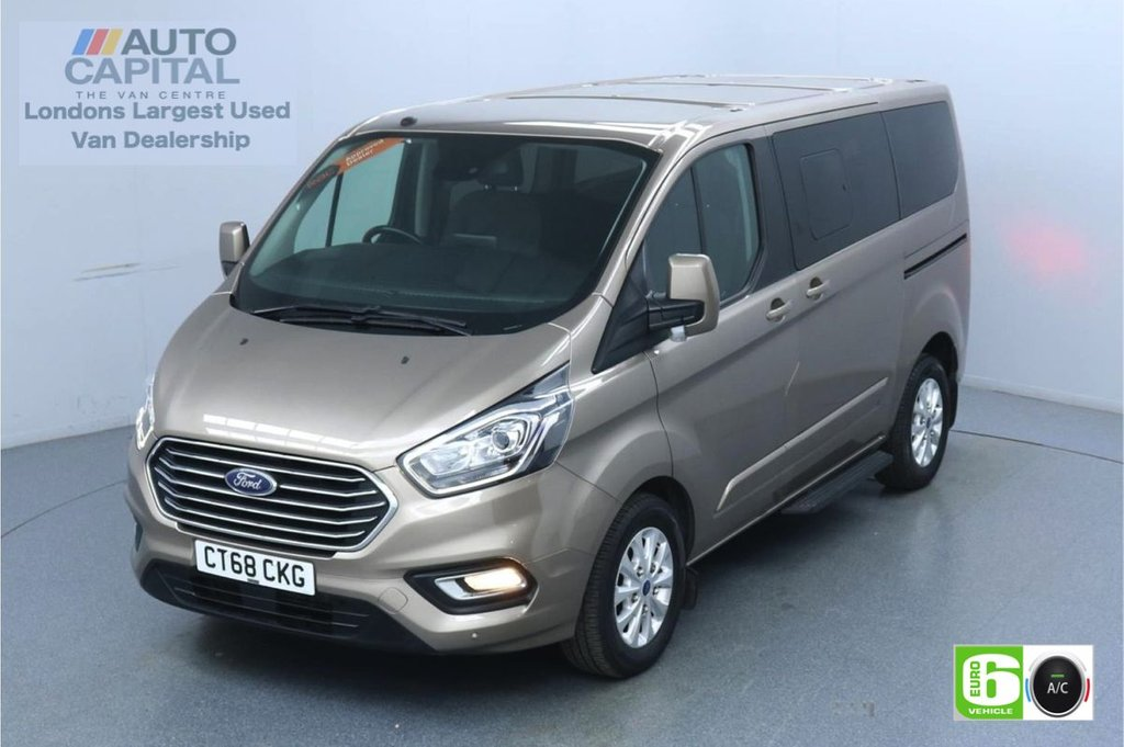 USED 2018 68 FORD TOURNEO CUSTOM 2.0 320 Titanium L1 Auto 130 BHP 8 Seats Minibus Low Emission Automatic | 8 Seats | Air Con | F-R Sensors