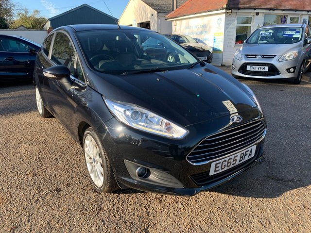 USED 2015 65 FORD FIESTA 1.5 TITANIUM X TDCI 3d 94 BHP LOW MILEAGE / FULL LEATHER /  KEY LESS ENTRY
