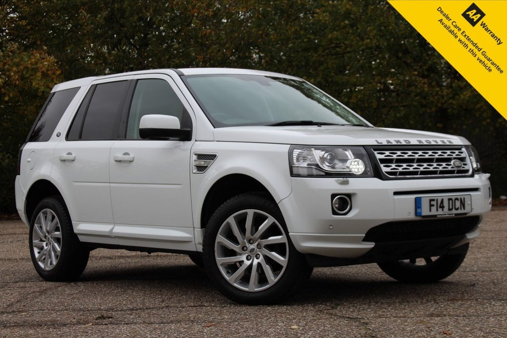 """USED 2014 14 LAND ROVER FREELANDER 2.2 SD4 HSE 5d 190 BHP ** FULL SERVICE HISTORY ** LONG ADVISORY FREE MOT ** PRIVATE PLATE INCLUDED WORTH £500 + ** UPGRADED REAR PARKING CAMERA + 19"""" ALLOY WHEELS ** HEATED LEATHER SEATS ** HEATED STEERING WHEEL ** ELECTRIC SEATS WITH MEMORY SEAT ** SATELLITE NAVIGATION ** PANORAMIC SLIDE & TILT GLASS SUNROOF ** MERIDIAN 17 SPEAKER SOUND SYSTEM ** FRONT + REAR PARKING AID ** CRUISE CONTROL ** CLIMATE CONTROL ** AUTO LIGHTS + WIPERS ** BLUETOOTH ** NATIONWIDE DELIVERY AVAILABLE ** CLICK & COLLECT AVAILABLE **"""