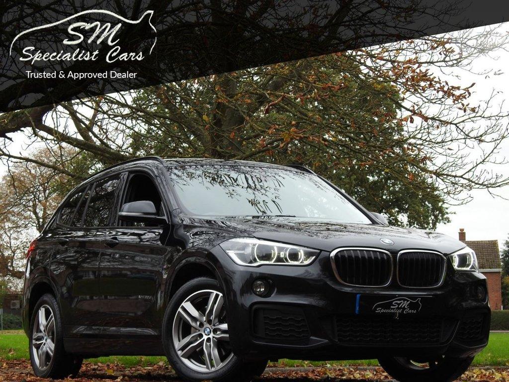 USED 2018 18 BMW X1 2.0 XDRIVE20D M SPORT 5d 188 BHP 1 OWNER 87K LEATHER SAT NAV AC