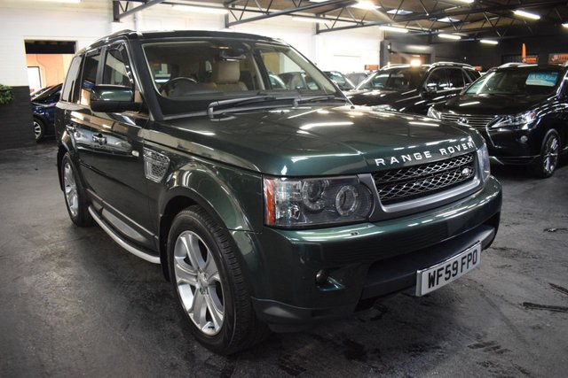 USED 2009 59 LAND ROVER RANGE ROVER SPORT 3.0 TDV6 HSE 5d 245 BHP STUNNING LOW MILEAGE EXAMPLE - 7 STAMPS TO 53K - 20 LUX ALLOYS - PRIVACY - SIDE STEPS