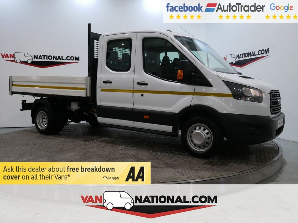 USED 2017 67 FORD TRANSIT 2.0 350 L3 DCB DRW 130 BHP RWD (1 STOP) TIPPER CREW CAB EURO 6 * ONE OWNER * EURO 6 * TOW BAR * ZERO DEPOSIT FINANCE AVAILABLE *