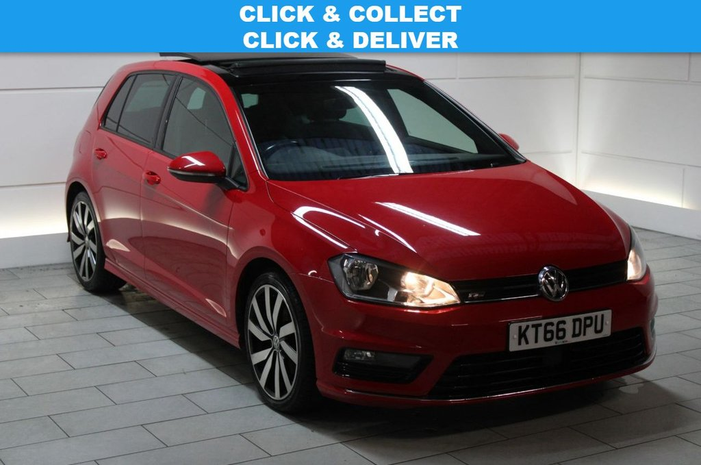USED 2017 66 VOLKSWAGEN GOLF 2.0 TDI BlueMotion Tech R-Line Edition DSG [PAN ROOF]