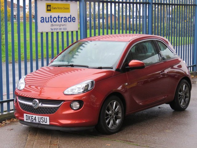 USED 2014 64 VAUXHALL ADAM 1.2 JAM 3d 69 BHP 2 Lady Owners, 6 Service Stamps, 2 Keys, DAB, Bluetooth, Air Con, Cruise Control