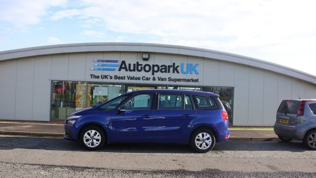 USED 2017 17 CITROEN C4 GRAND PICASSO 1.6 BLUEHDI TOUCH EDITION S/S 5d 98 BHP . LOW DEPOSIT OR NO DEPOSIT FINANCE AVAILABLE . COMES USABILITY INSPECTED WITH 30 DAYS USABILITY WARRANTY + LOW COST 12 MONTHS ESSENTIALS WARRANTY AVAILABLE FROM ONLY £199 (VANS AND 4X4 £299) DETAILS ON REQUEST. ALWAYS DRIVING DOWN PRICES . BUY WITH CONFIDENCE . OVER 1000 GENUINE GREAT REVIEWS OVER ALL PLATFORMS FROM GOOD HONEST CUSTOMERS YOU CAN TRUST .