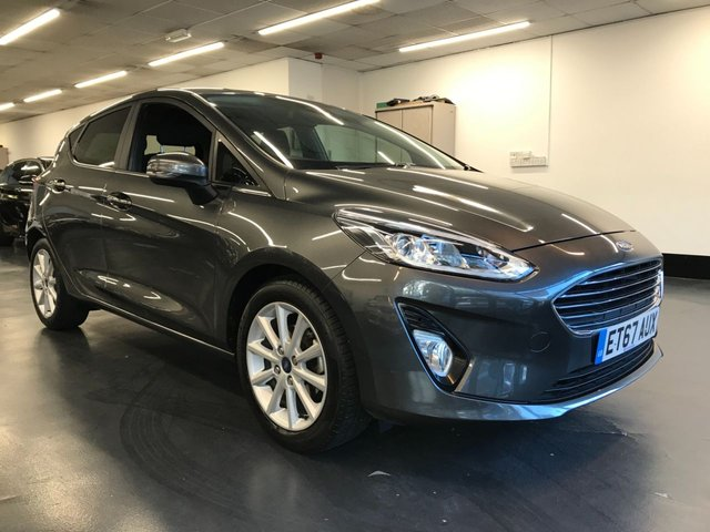 USED 2018 67 FORD FIESTA 1.0 TITANIUM 5d 99 BHP TOUCHSCREEN SATNAV, BLUETOOTH PHONE AND AUDIO, 1 LADY OWNER WITH FULL SERVICE HISTORY