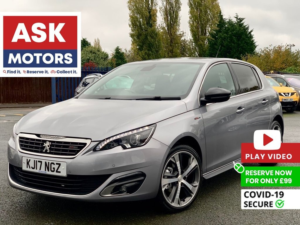 USED 2017 17 PEUGEOT 308 1.6 BLUE HDI S/S GT LINE 5d 120 BHP