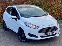 """USED 2013 62 FORD FIESTA 1.2 STYLE 3d RECENTLY SERVICED, MOT UNTIL NOVEMBER 2021, 17"""" BLACK ALLOY WHEELS, REAR PRIVACY GLASS"""