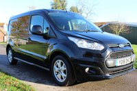 USED 2018 18 FORD TRANSIT CONNECT 1.5 240 LIMITED P/V 118 BHP NO VAT LWB LIMITED BLACK FULL HISTORY SPARE KEYS