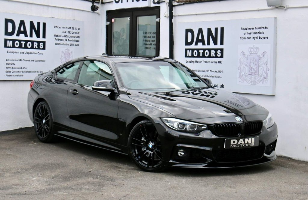 USED 2017 17 BMW 4 SERIES 2.0 430i M Sport Auto (s/s) 2dr 1 OWNER*SATNAV*PARKING AID