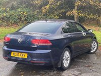 USED 2016 16 VOLKSWAGEN PASSAT 1.6 SE BUSINESS TDI BLUEMOTION TECHNOLOGY 4d 119 BHP SATELLITE NAVIGATION, ALLOYS