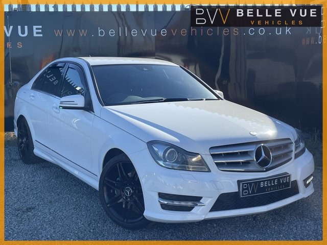 """USED 2012 12 MERCEDES-BENZ C-CLASS 2.1 C220 CDI BLUEEFFICIENCY AMG SPORT PLUS 4d 168 BHP - FREE DELIVERY* *18"""" AMG ALLOYS, SPORTS PADDLE SHIFT, PARKING SENSORS!*"""
