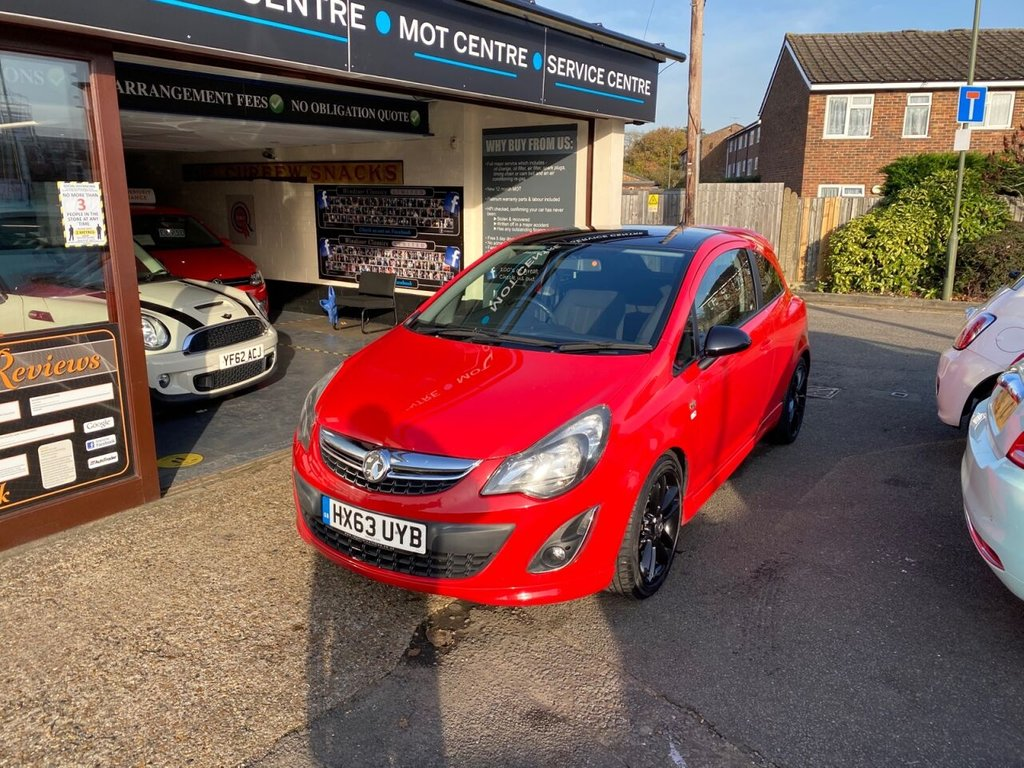 USED 2013 63 VAUXHALL CORSA 1.2 LIMITED EDITION 3d 83 BHP AIRCON - AUX - BLACK ALLOYS - VXR STYLING PACK