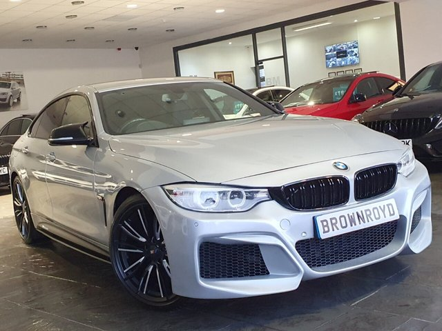 USED 2015 65 BMW 4 SERIES GRAN COUPE 2.0 420D M SPORT GRAN COUPE 4d 188 BHP +BM4 BODY KIT+HEADS UP+6.9APR+