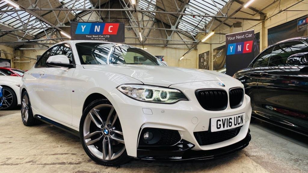 USED 2016 16 BMW 2 SERIES 2.0 218d M Sport (s/s) 2dr PERFORMANCEKIT+18S+XENONS