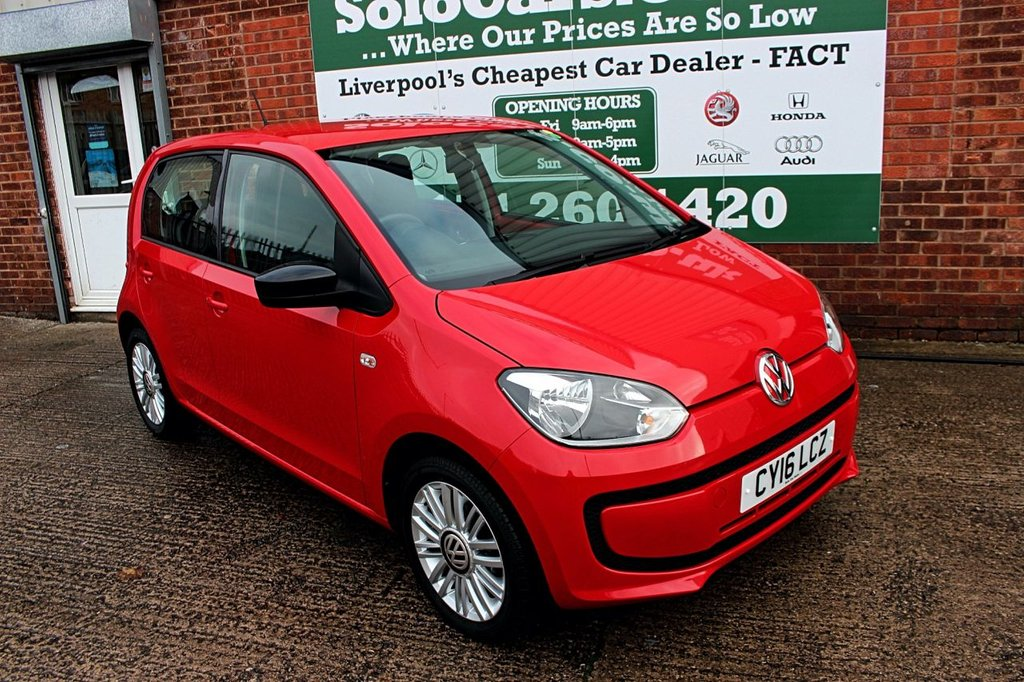 USED 2016 16 VOLKSWAGEN UP 1.0 LOOK UP 5d 59 BHP +5 DOOR +FULL MOT +SERVICED.