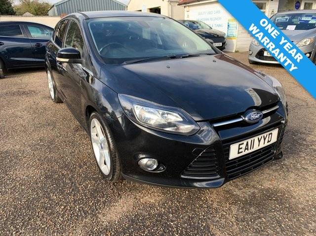 USED 2011 11 FORD FOCUS 1.6 TITANIUM TDCI 115 5d 114 BHP ONE YEAR WARRANTY INCLUDED / FULL MAIN DEALER SERVICE HISTORY X 9 STAMPS / KEY LESS ENTRY / VOICE COMMS / BLUETOOTH / USB