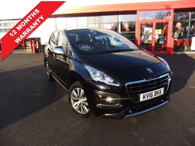 USED 2016 16 PEUGEOT 3008 1.6 BLUE HDI S/S ACTIVE 5d 120 BHP *****12 Months Warranty*****